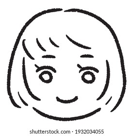 Simple touch illustration with child's face border-kids10