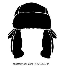 Simple Trapper Cap Hat Vector Illustration Icon Graphic