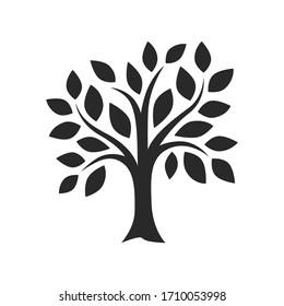 simple tree decor silhouette vector image