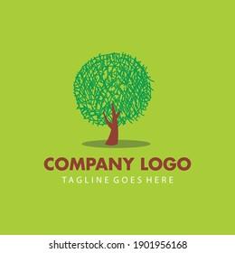 simple tree logo vector design. nature company logo