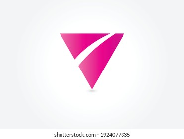 Simple triangle vector logo in a modern style.