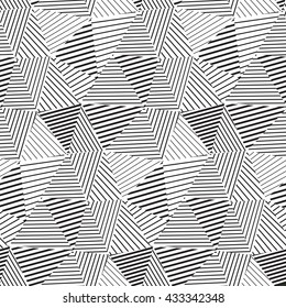 Simple triangles pattern, with lines various widths