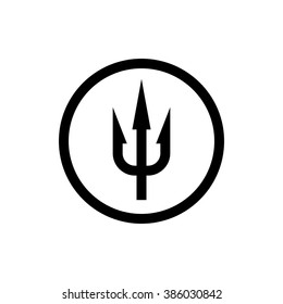 devil fork images stock photos vectors shutterstock https www shutterstock com image vector simple trident sign black symbol circle 386030842