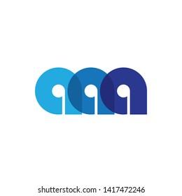 Simple Triple A letter logo template