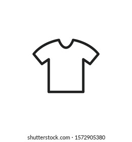 Simple t-shirt line icon. Stroke pictogram. Vector illustration isolated on a white background. Premium quality symbol. Vector sign for mobile app and web sites.
