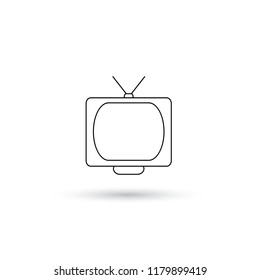 simple tv line art icons. vector illustration