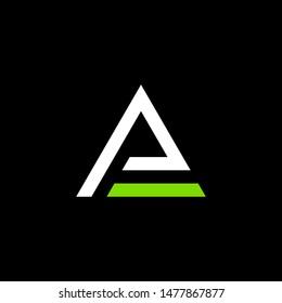 simple typography triangle ae vector logo