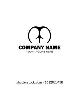 Simple Underwear logotype Idea Design For Business Company.  Corporate Identity Concept. Creative Underwear Icon Accessories Collection Vector Illustration - Vector