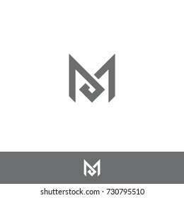 simple unique brilliant letter M logo icon symbol mark design