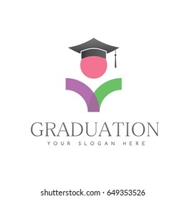Simple Unique Graduation Logo For Education Vector Isolated