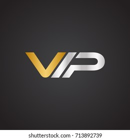 Simple Unique VIP Logo For Business. Vector Isolated.