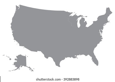 Simple Usa Map Images Stock Photos Vectors Shutterstock