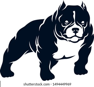 Simple vector of American Bully Dog
