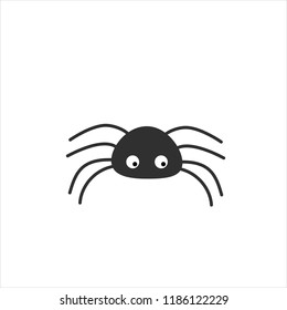 Simple vector of a black spider.