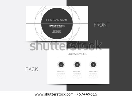 Simple vector business card circle layout stock vector royalty free simple vector business card with circle layout idea and informative back side colourmoves