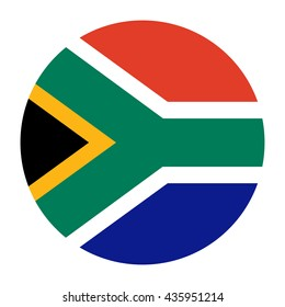 Simple vector button flag - South Africa