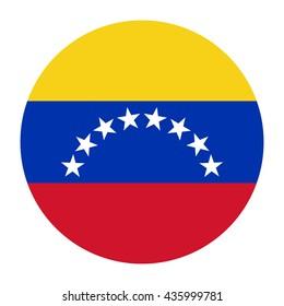 Simple vector button flag - Venezuela