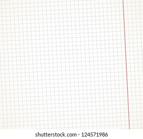 Simple vector copybook page texture.