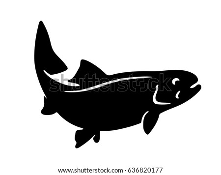 simple vector fish silhouette trout stock vector royalty free