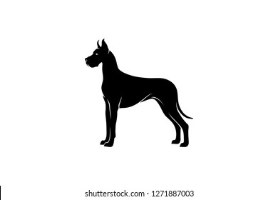 Simple Vector of Great Dane Dog