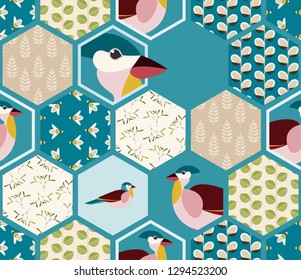 Simple Vector Hexagonal background. Created as Simplification for Further Work.