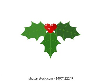 A simple vector illustration of Christmas holly leaves