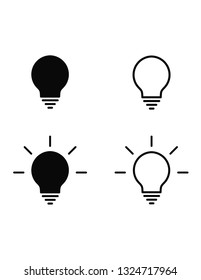 simple vector lamp icons can be used as idea icons for web or printings