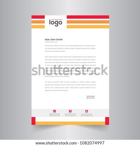 simple vector letter head template standard のベクター画像素材