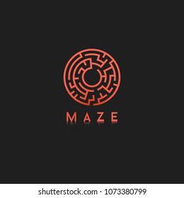 Simple vector maze logo