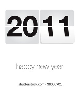 simple vector new year wish
