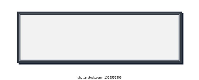 Simple vector of a photo frame in landscape