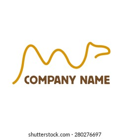 Simple Vector sign camel