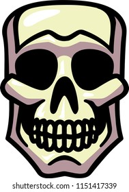 Simple vector skull