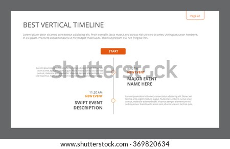 simple vertical timeline template stock vector royalty free