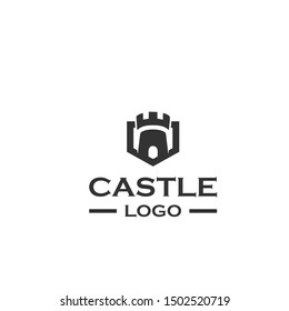 simple and very unique castle logo