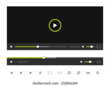 Simple Video Player Template with some Icons.