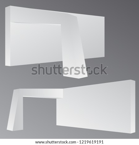 Exhibition Booth Mockup : Simple wall booth mockup exhibition stand stock vector royalty