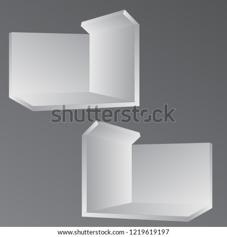 Simple Exhibition Stand : Simple wall booth mockup exhibition stand stock vector royalty free