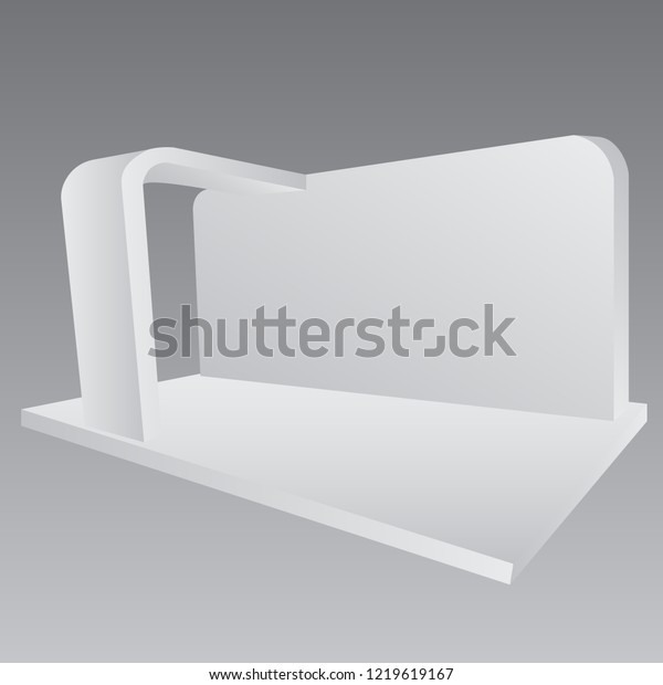 Simple Wall Booth Mockup Exhibition Stand Stock Vector (Royalty Free