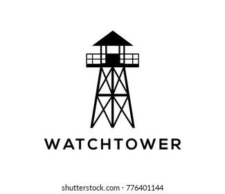 Simple Watchtower on the Beach Company Logo Modern
