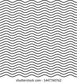 Simple wavy stripes pattern, seamless wavy pattern design