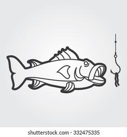 Simple Web Icon: River Fish