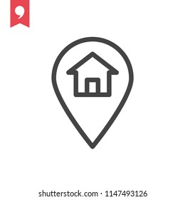 Simple web icon in vector: address