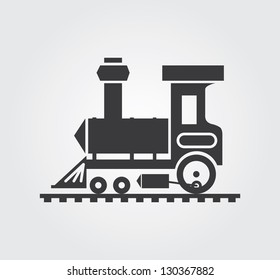 Simple web icon in vector: locomotive