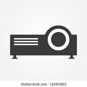 Simple web icon in vector: projector