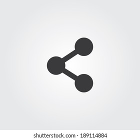 Simple web icon in vector: share