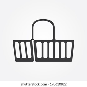 Simple web icon in vector: shopping basket