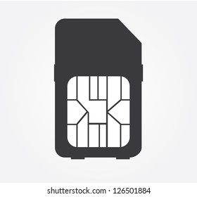Simple web icon in vector: SIM card