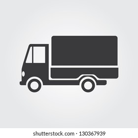 Simple web icon in vector:  truck