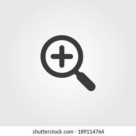 Simple web icon in vector: zoom